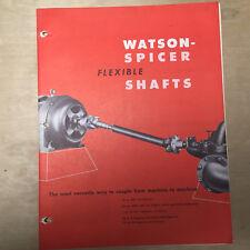 Vtg H.S Watson Co Brochure ~ Spice Flexible Shafts Catalog 1963