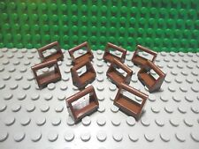 Lego 10 Reddish Brown 1x2 plate tile with handle NEW