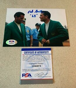 DUSTIN JOHNSON AUTO SIGNED PEBBLE BEACH SCORECARD BECKETT SLAB ENCAP 054