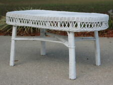 Vintage Wicker Coffee Table Oval