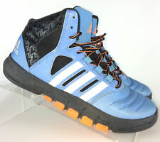 Adidas Mens High Top Basketball Sneakers, d73627 Blue Black Shoes, Size 5