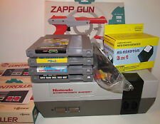 Nintendo NES System Console Super Mario Bros 1 2 3 Duck Hunt TMNT Turtles Bundle