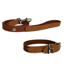 Brand New Rosewood Leather Luxury Soft Touch Red Collar & Lead for Dog Puppy