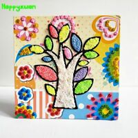 Diy Fluffy Foam Painting Eva Glitter Mosaic Stickers Creative Toy For Girl Kids