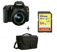EOS 200D Camera with 18-55mm STM Lens (Black) + 64 GB SD+CASE/ Stock in UK