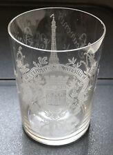 Verre ancien en Cristal EXPOSITION UNIVERSELLE DE PARIS 1889 Saint Louis