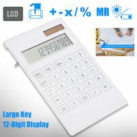 12-digit Large Solar Desktop Calculator Instruments LCD Screen Business Office