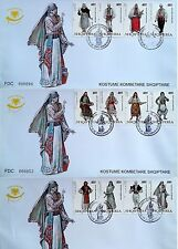 Albania Stamps 2006 - Albanian national folk costumes - 3 FDC Set MNH