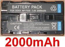 Akku 2000mAh typ NP-F330 NP-F530 NP-F550 NP-F570 Für Sony DCR-VX2000E