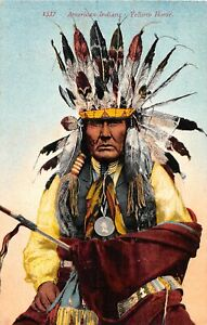 H36/ Native American Indian Postcard c1910 Chief Yellow Horse 27