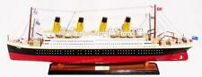 "RMS Titanic Cruise Ship Assembled 32"" -Built Wooden Model New"