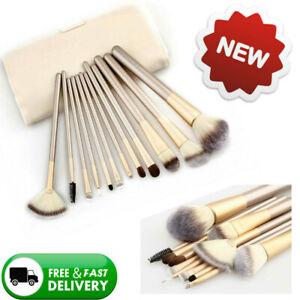 UK Kabuki Make up Brush Set Brushes Blusher Face Powder Foundation Brush 12Pcs