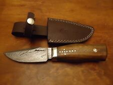 "Pioneer Damascus Steel Hunting Knife Steel Guard 9.5""Pt-1367"