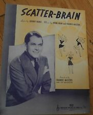 SCATTER-BRAIN Frankie Masters Sheet Music 1939