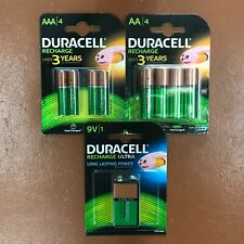 NEW Duracell Rechargeable PLUS Batteries ALL SIZES AA / AAA / 9V Battery