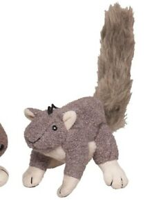 "Hugglehounds LIL' FELLER Gray Squirrel Dog Toy 8"" Long"
