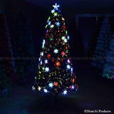 5ft Pre-Lit Fiber Optic Christmas Tree LED Snowflake Xmas Home Decorations 150cm