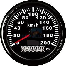 Analogue GPS Speedometer 200KM/H Car Truck Motorcycle Boat Odometer Gauge 85mm
