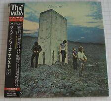 THE WHO - Who's Next + 7 BONUS REMASTERED JAPAN MINI LP CD NEU RAR! POCP-9199