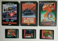 Sega Genesis 6 Game Lot (Street Fighter II, Mortal Kombat II, Sonic 2, Etc)