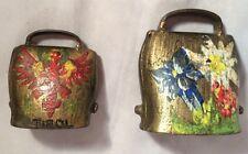 Vintage Brass Bells Vintage Painted No Ribbons 2