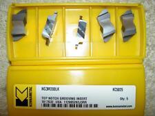 X5 Kennametal ng3m200lk Kc5025 2mm Wide TOP Notch saldatura di partizione inserisce nuove