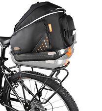 Ibera Bike Rear Seat Commuter Trunk Bag & Touring Rack Combo NEW IB-BA1-RA4