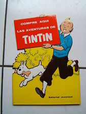 HERGE /  TRES RARE PLV  ESPAGNOL  LES AVENTURES DE TINTIN / ANNEE 60