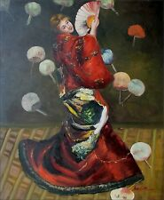 Hand Painted Oil Painting Repro Claude Monet Woman Japanese Lady 20x24in