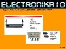 MARCO Soporte Radio KIA CARNIVAL 2001-2006 + CONEXION ISO KIA