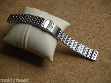 18mm STAINLESS STEEL RICE GRAIN STYLE WATCH STRAP