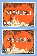etiquettes anciennes vin Staouëli et Médéah différentes Algérie