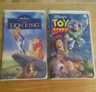 VINTAGE LOT OF 2 DISNEY VHS TAPES TOY STORY & THE LION KING MOVIES picture