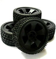 BS502-001 1/5 Scale Electric Monster Truck Wheels Off Road Tyres Tires 4 Black