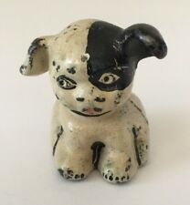 hubley rare 1930's dog cast iron figurine vintage white black
