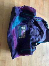 Retro Vintage 90's Large Purple Dunlop Duffel Bag Pro Equipment Sport Gym Travel