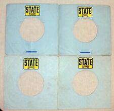Job Lot  X 4 STATE RECORDS :  7'' record sleeves. Company Original Vintage.