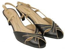 Standard (D) Width 100% Leather Slim Heels for Women