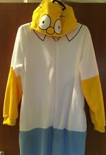 BNWT 'HOMER' Mens M/L Onesie Sleepsuit PJs Primark Fancy Dress TV - The Simpsons