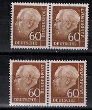 BRD Mi. - Nr. 262 x w und 262 x v waagerechtes Paar postfrisch