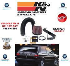 pour VW GOLF II GTI 16V chat K&N INJECTION PERFORMANCE KIT 1983- >1991 ORIGINAL