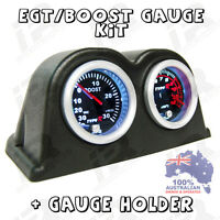 PYRO EGT EXHAUST GAS TEMPERATURE GAUGE + TURBO BOOST PSI KIT FREE GAUGE HOLDER