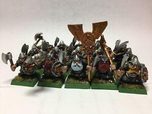 Warhammer Citadel Dwarf Warriors x 15 Painted