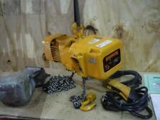 Harrington Ner005l 15 Electric Chain Hoist 1000 Lb 15 Ft Hook Mount 3 Phase 460v