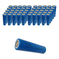 50 PKCELL ICR 18650 Batteries 3.7V 2600mAh Lithium Rechargeable Battery Flat Top