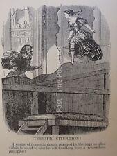 Théâtre & play thème formidable situation-héroïne drame antique punch Cartoon