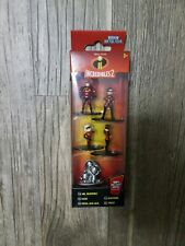 "Disney PIXAR ""Incredibles 2"" Five Figurine Set, 100% Diecast Nano Metalfigs NEW"