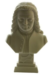 New Genuine A.Giannelli Music Composer Alabaster Mini Bust Bach Made in Italy