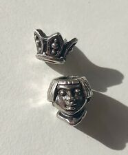 Trollbeads Retired Little Princess Silver Charm Bead