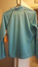 Women AVIA 1/4 Zip crewneck Athletic pullover Long Sleeve Turquoise  Sz M